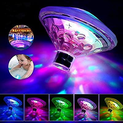 Waterproof Swimming Pool LED lights (7 Lighting Modes), Kids Baby Bath Toys Colorful Bathroom LED Light Toys in the Tub Decorative, Floating Lights for Bathtub Swimming Pool Party Bathroom Pond Spa