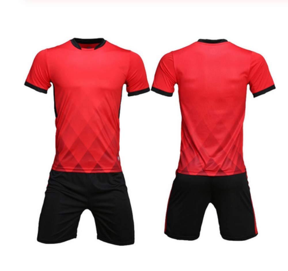 XIAOL Neue Trikots M/änner Fu/ßball Trikots Trainingsanzug Leer Fu/ßball Trikots Set Kleid Kinder Fu/ßball Trikots Set Uniformen,Black-S