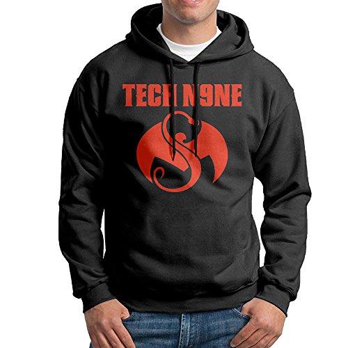 Men's Rapper Tech N9ne Logo Aaron Dontez Yates Sports Pullover Black (Tech N9ne Jersey)