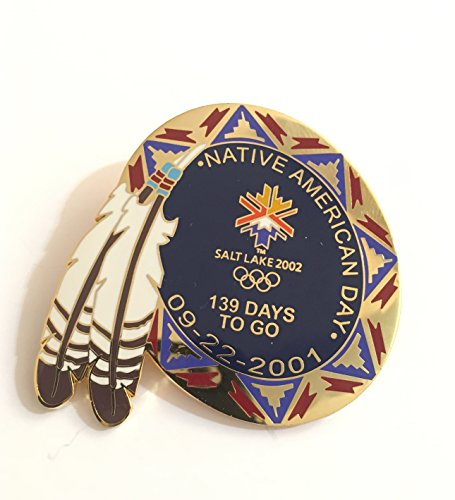 (Rare Salt Lake City Winter Olympics Countdown Pin Native American Day LE 11/1000)