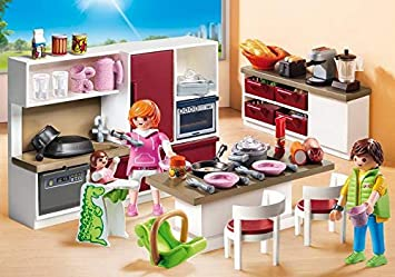 Playmobil Jeu De Construction Cuisine Amenagee 9269 City