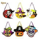 Runola Halloween Candy Bags DIY Trick or Treat Pumpkin Candy Handhold