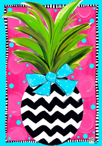 Chevron Pineapple Double Standard Decorative