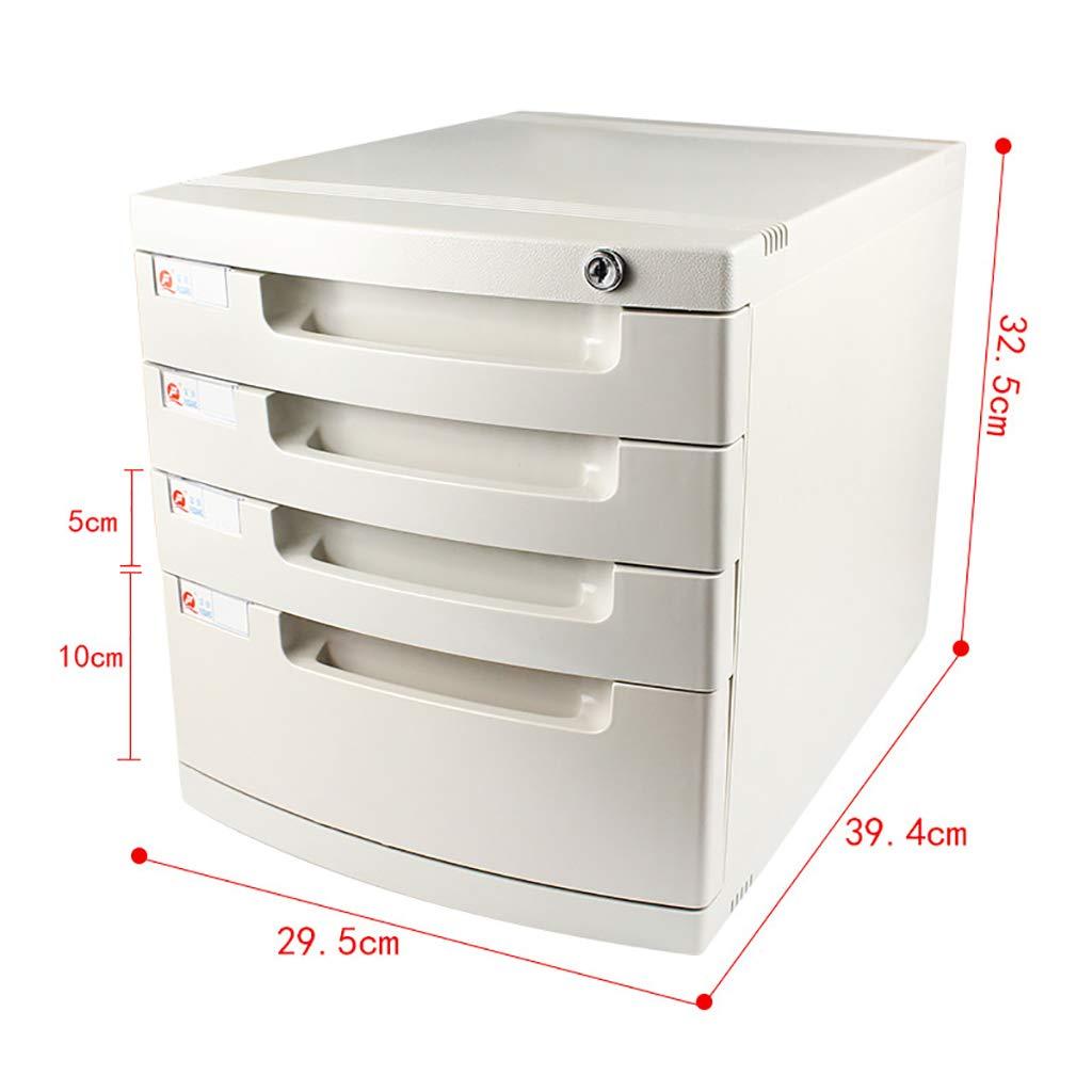 ZCCWJG Archiviazione per cassettiera archivio di archiviazione con Serratura per archivio A4 Ufficio Bianco Dimensioni: 394 * 295 * 430mm Dimensioni : A