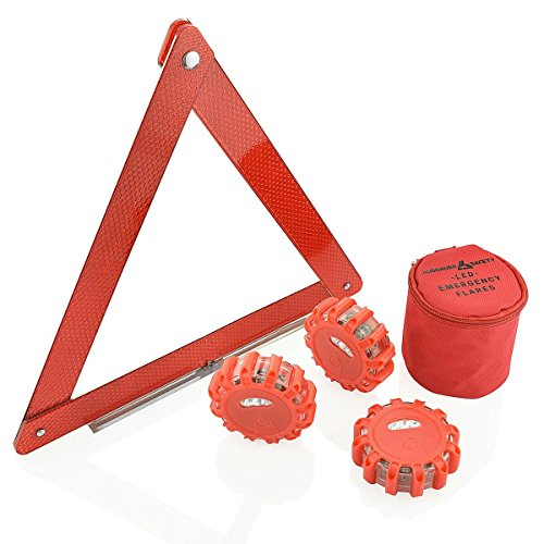 (3 LED Kit + Safety Triangle) Red LED Road Flares, Emergency Disc Roadside Safety Light Flashing Road Beacon for Auto Car Truck. by AUSDAUER Safety … (Bonus Safety Triangle) by AUSDAUER SAFETY (Image #7)