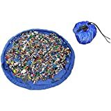 """Habest Play Mat Bag 2-In-1 Large Lego Mat And Drawstring Storage Pouch For Small, Medium And Large Sized Toys – Portable 60"""" Playmat Pad Organizer For Easy Cleanup –For Babies, Toddlers And Kids"""