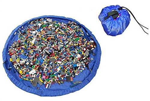 Play Mat Bag 2-In-1 Lego Mat And Drawstring Storage