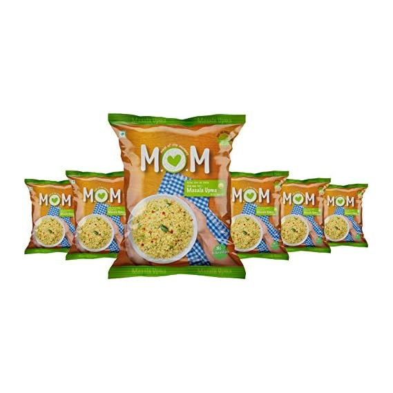 MOM Meal of the Moment Masala Upma Pouch, 57g (Pack of 6)