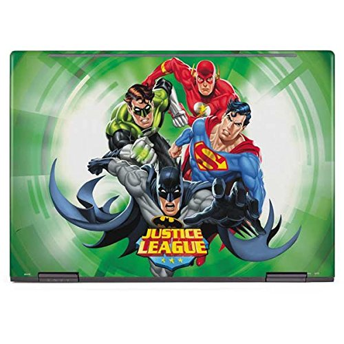 Skinit DC Comics Justice League Envy x360 13z (2018) Skin - Justice League Team Power Up Green Design - Ultra Thin, Lightweight Vinyl Decal Protection