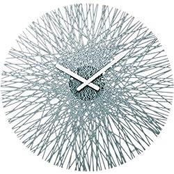 Koziol Silk Wall Clock, Transparent Grey