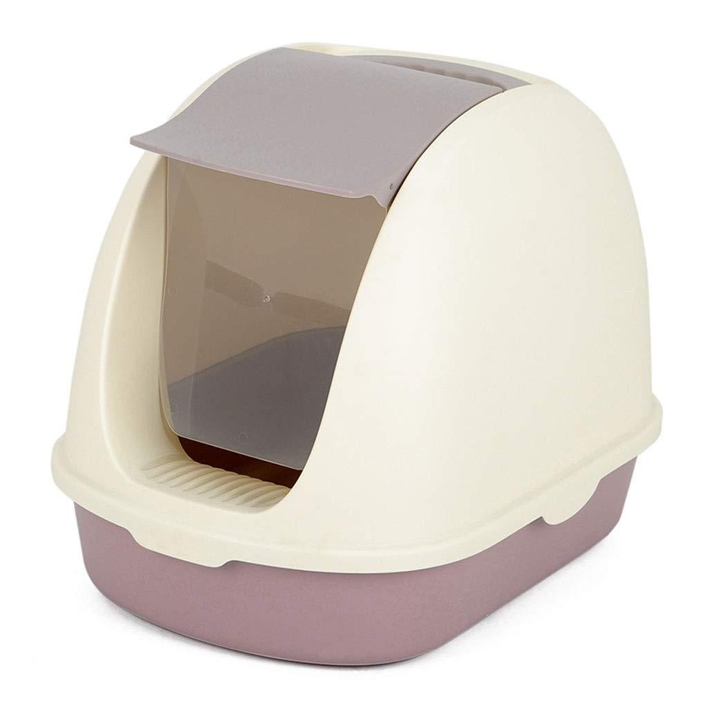 NYJ Contenitore per cucciolata con Cappuccio per Gatti - Progettato con Cura per comodità e funzionalità - Maniglia per Filtro e sportello Girevole integrati (colore   C)