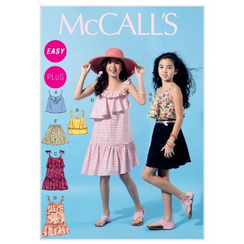 McCalls Pattern Girls Dresses Shorts