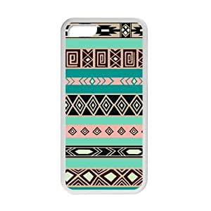 Aztec Colorful Pattern Bohemian Style Green and Black Design Custom Luxury Cover Case with Best Plastic for Iphone 5C