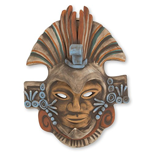 NOVICA Aztec Eagle Ceramic Mask