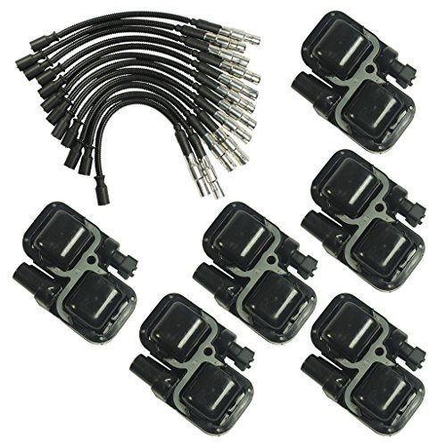 JDMSPEED New Ignition Spark Coils With Plug Wire Sets For Mercedes-Benz C CL CLK ML Class