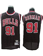 BXWA-Sports basketbal Jersey # 91 Bulls Rodman Cool ademend slijtvast vintage basketbal uniform fitness vest Swingman shirts