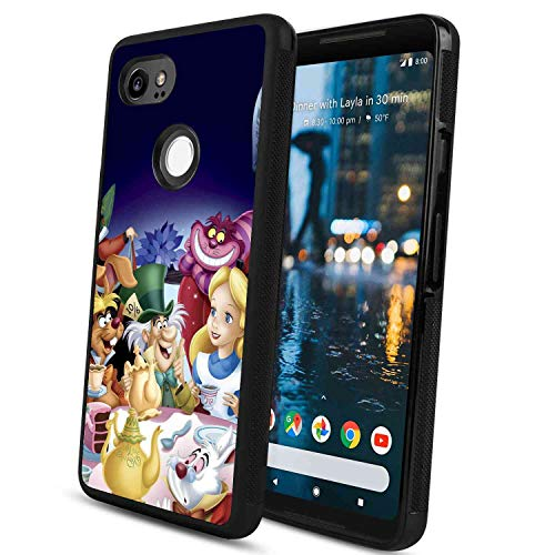 DISNEY COLLECTION Tire Phone Case Fit for Google Pixel 2 XL Alice in Wonderland Skid Proof Shockproof Protective Rub Cover