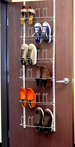 Over the Door Shoes Rack Organizer, White