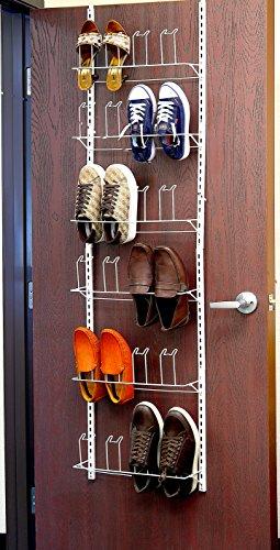 the Door Shoes Organizer Rack, White (Wall Shoe Rack)