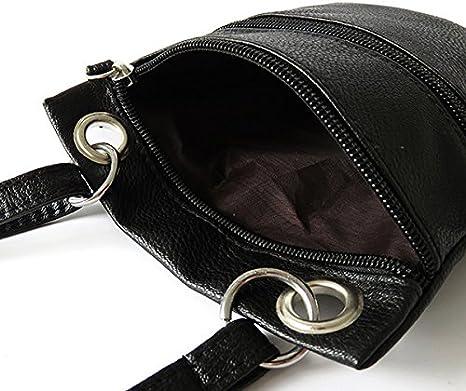 Women Double Zipper Small Hobo Messenger Cross Body Bag PU Leather Shoulder Bag Blue