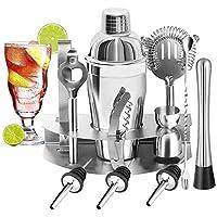 YOMYM Cocktail Bar Set Kit 12 Pieces Bar Utensils, Sets for Bar Cocktail Shaker Stainless Steel. Ideal Set for…