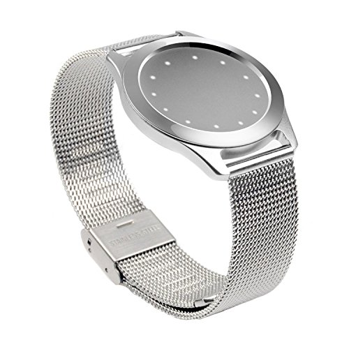 (Misfit Shine Band Pinhen Misfit Wearables Band Wristband Aluminum Mesh Watch Stainless Steel Milanese Bracelet Strap For Misfit Shine (Shine 1 Mesh Silver))