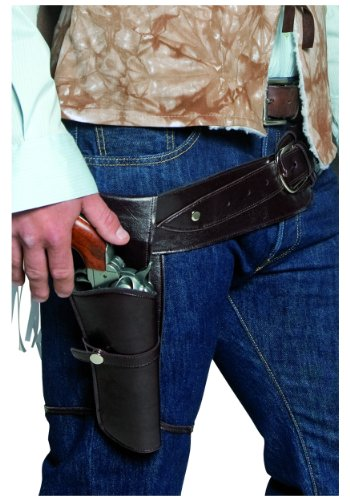 Authentic Western Wandering Gunman Belt and Holster Costume Accessory -