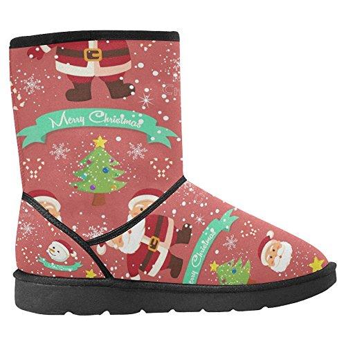 Snow Stivali Da Donna Interesse Design Unico Comfort Invernale Stivali Pupazzi Di Neve E Fiocchi Di Neve Di Tema Natalizio Multi 1