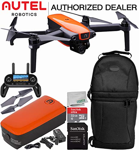 Control Camera Robotic - Autel Robotics EVO Foldable Quadcopter with 3-Axis Gimbal Starters Backpack Bundle