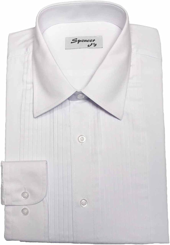 Spencer Js Tuxedo Shirt White Wingtip Collar 1//4 Pleat