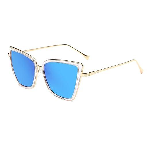 HAOYUXIANG Trend Fashion Sonnenbrillen Europa Und Die Vereinigten Staaten Retro Helle Farbe Männer Und Frauen Tinte,BlackBoxBlackGrayFilm