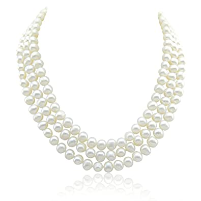Fashion Necklaces & Pendants 52 4-12mm White Graduated Freshwater Pearl Strand Necklace Fashion Jewelry