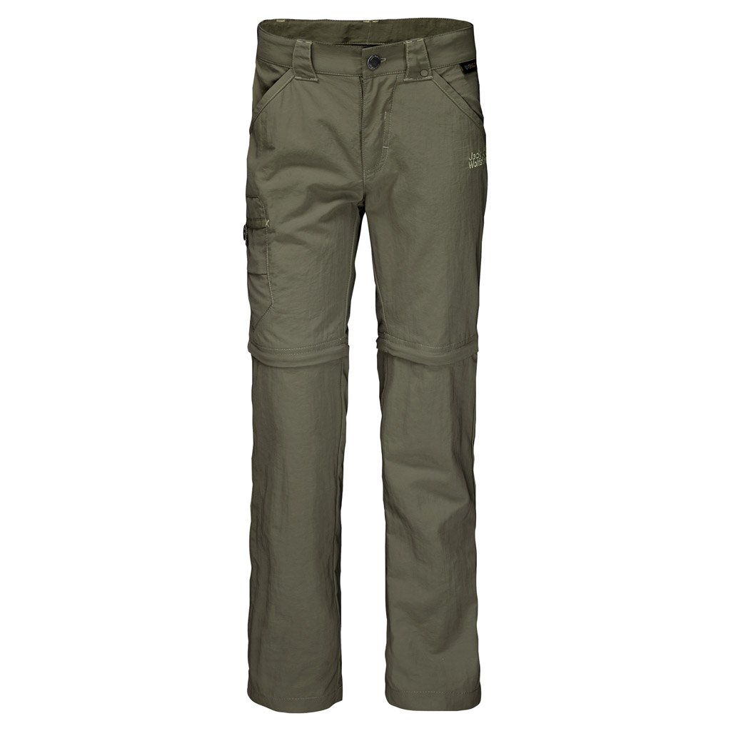 Jack Wolfskin Safari Zip Off Pants K Pants, 104 (3-4 Years Old), Woodland Green