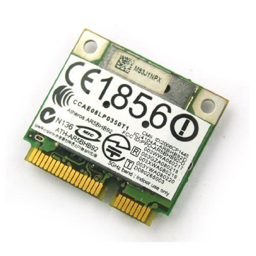 Dell DW1515 U608F Wireless N Half Height Mini PCI-E Card by Atheros