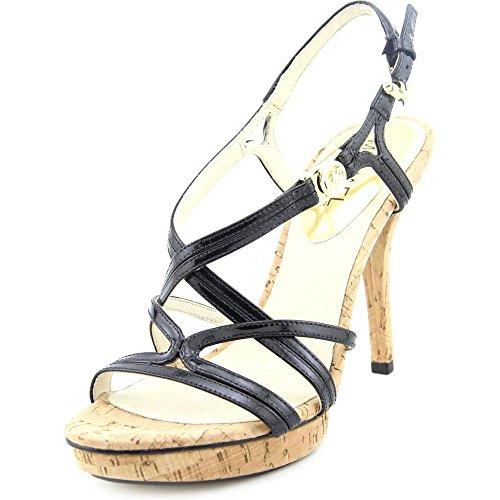 Michael Michael Kors Cicely Platform Patent Leather Platform Heel (9.5) Black
