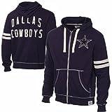 Dallas Cowboys Distressed Token Full Zip Navy Hoodie