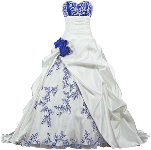 white and blue wedding dress - 6