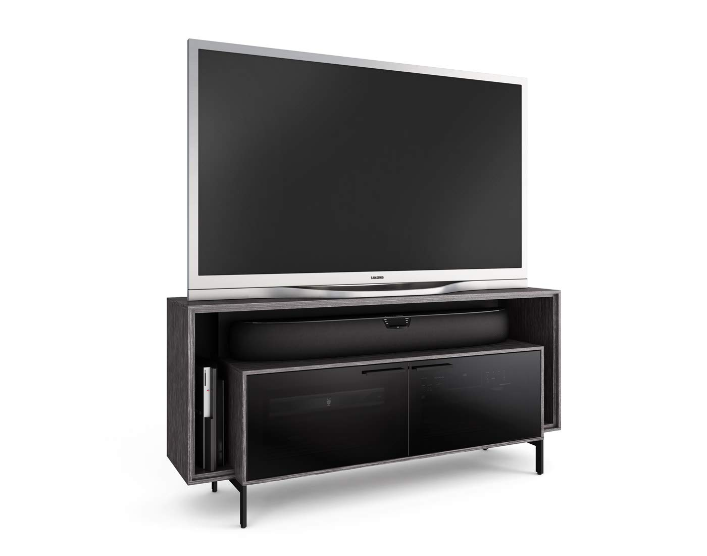 BDI Cavo Double-Wide TV Stand & Media Cabinet, Graphite by BDI Furniture