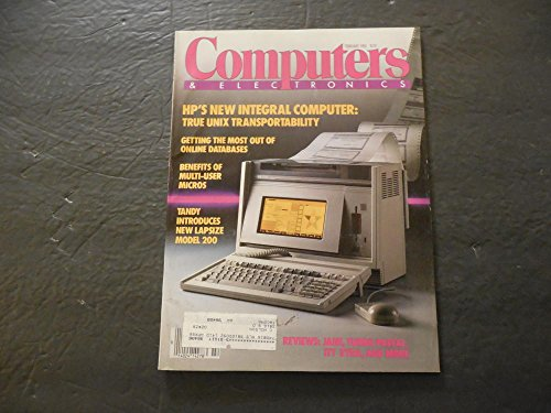 Computers And Electronics Feb 1985 HP's New Integral Computer; - Packard Computers Electronic Hewlett