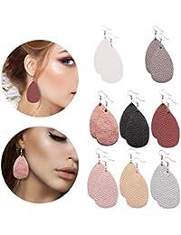 Leather Earrings Lightweight Faux Leather Leaf Earrings...