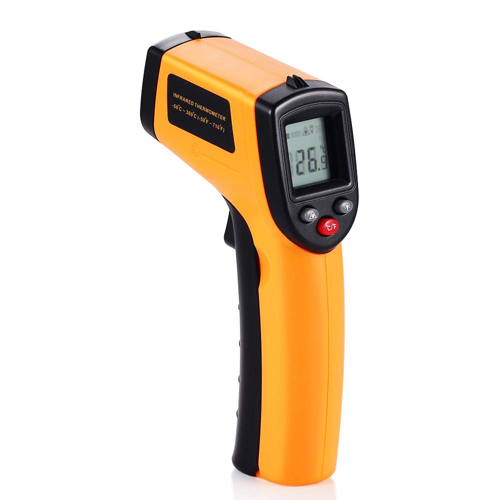 V-Resourcing Non-contact LCD Laser Infrared Digital Temperature Gun -50 ~ 380℃(-58 ~ 716℉), Instant-read Handheld IR Infrared Thermometer with Backlight