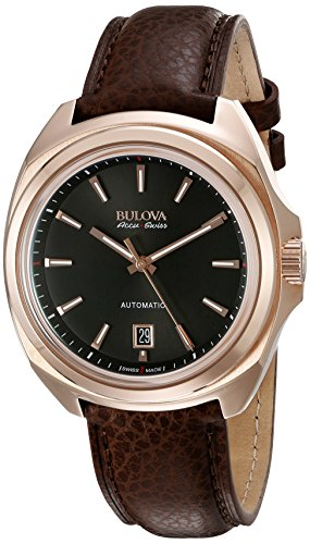 Bulova-Mens-Telc-Automatic-Stainless-Steel-and-Leather-Casual-Watch-ColorBrown-Model-64B126