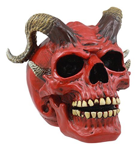 Ebros Day of The Dead El Diablo Horned Devil Skull Figurine Hell Spawned Imp Demon Skull Statue 5