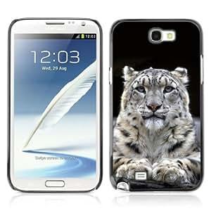 YOYOSHOP [Majestic Mountain Lion Blue Eyes] Samsung Galaxy Note 2 Case