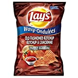 Lay's Wavy Potato Chips, Old Fashioned Ketchup, 270 Grams/9.5 Ounces