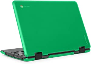 "mCover iPearl Hard Shell Case for 2018 11.6"" Lenovo 300E / Flex 11 Series 2-in-1 Chromebook Laptop (NOT Fitting Lenovo 300E Windows & N21 / N22 / N23 /100E / 500E Chromebook) (C300E Green)"