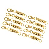 Linsoir Beads 10 Sets Ribbed Barrel Design Magnetic Clasp Converters with Lobster Clasp and Jump Ring