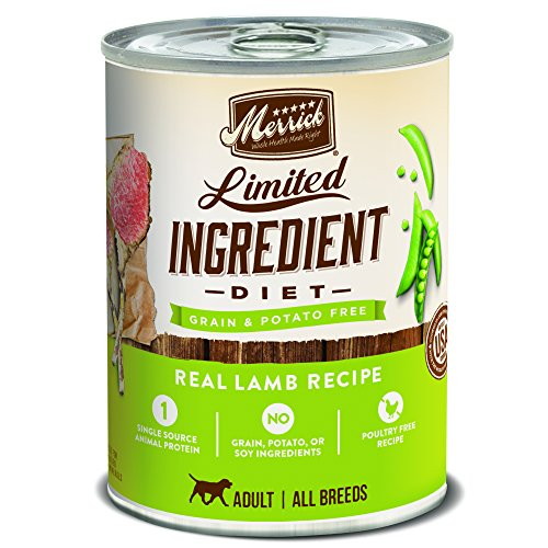 Merrick Limited Ingredient Diet Real Lamb Recipe Dog Food, 12.7 oz, Case of 12