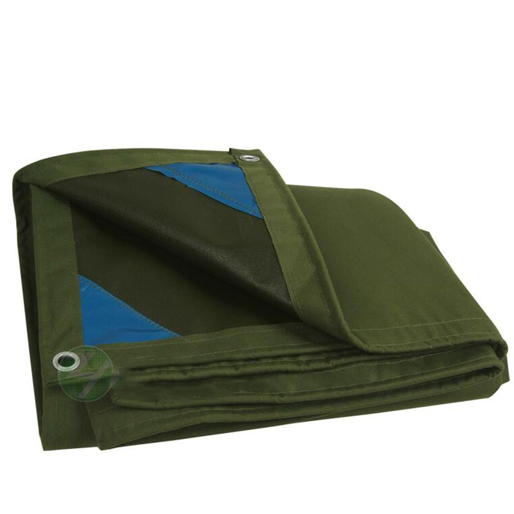 DUO Telo per tenda da sole Tarp Telo per tenda resistente in materiale spesso, impermeabile, 2 colorei (colore   Dark, dimensioni   3mx5m)