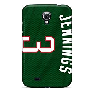 Protective Tpu Case With Fashion Design For Galaxy S4 (milwaukee Bucks)
